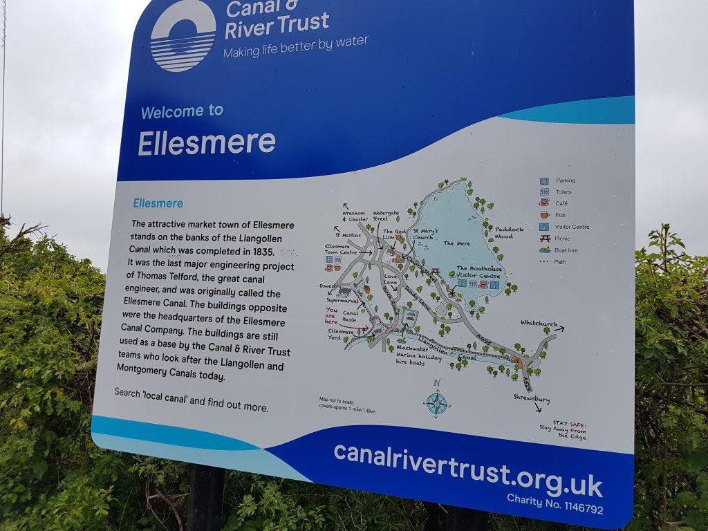 Ellesmere CRT Information board